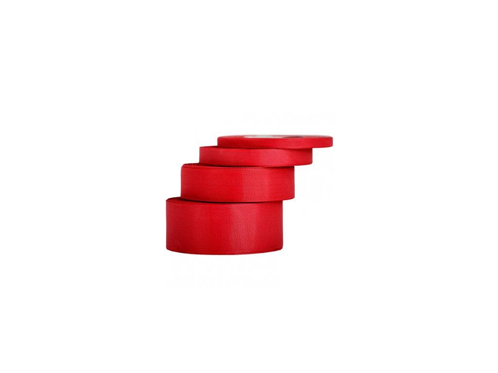wstazka rypsowa 12mm 22mb czerwona