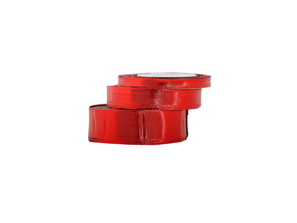 wstazka metalizowana 12mm 22mb czerwona