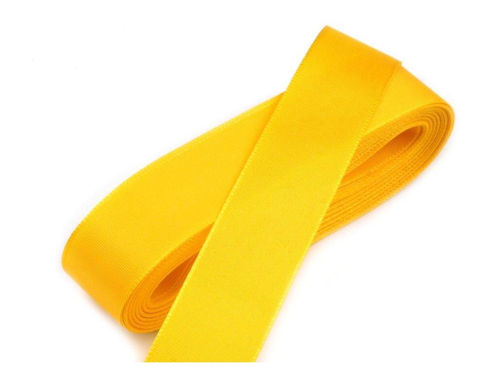 Taftová stuha 25mm/10m žltá 207