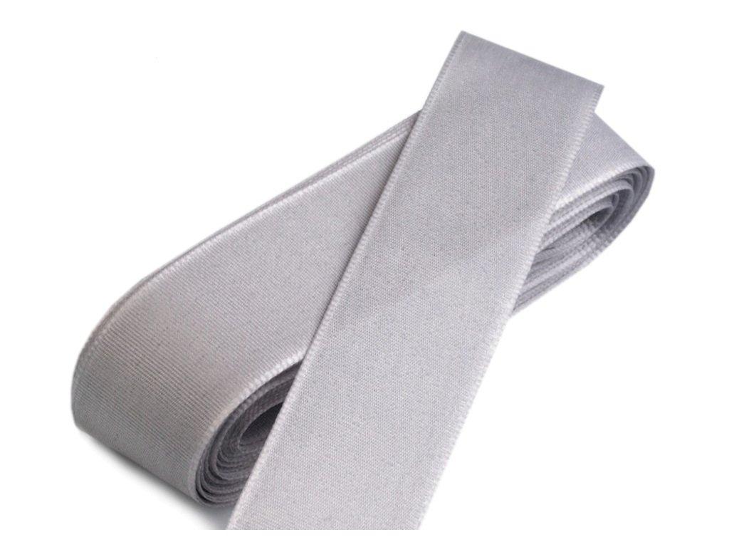 Taftová stuha 25mm/10m šedá 820