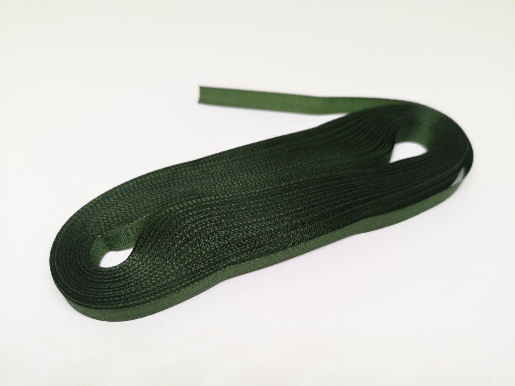 Taftová stuha 6mm/10m olivová zelená 322