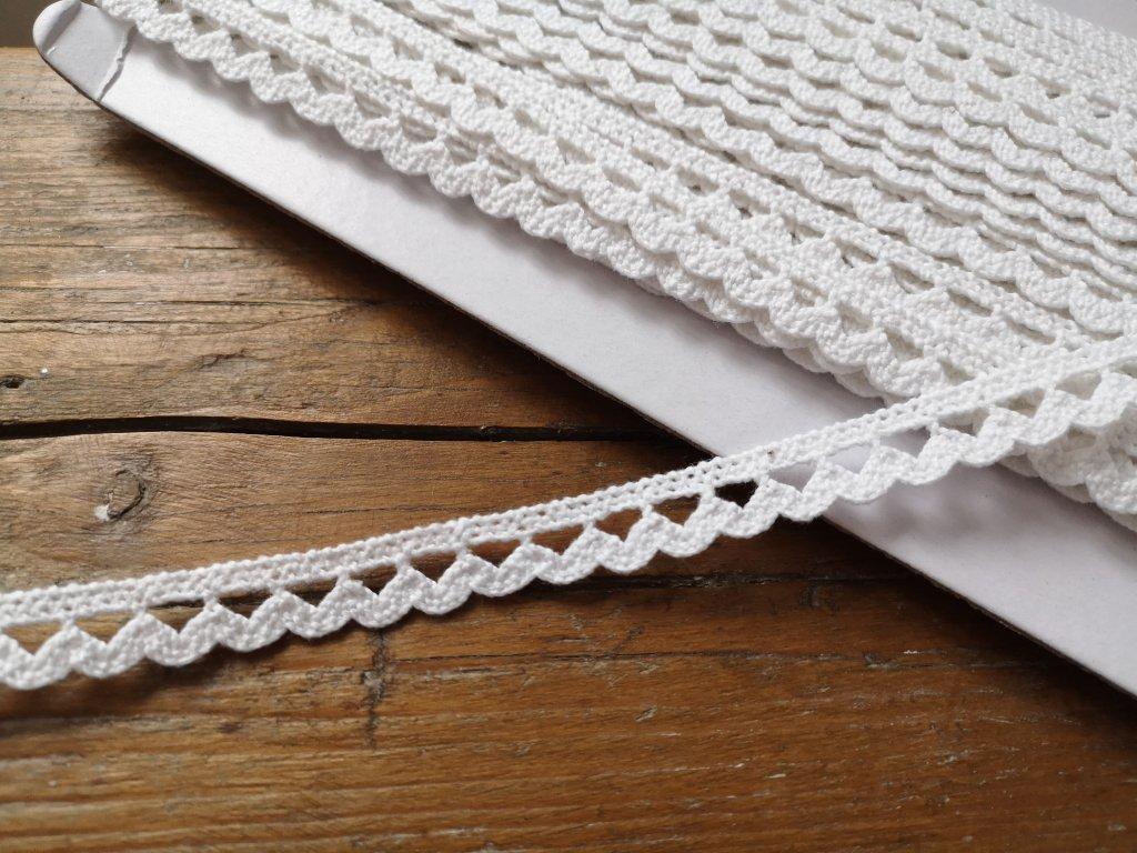 Čipka bavlnená biela 11mm
