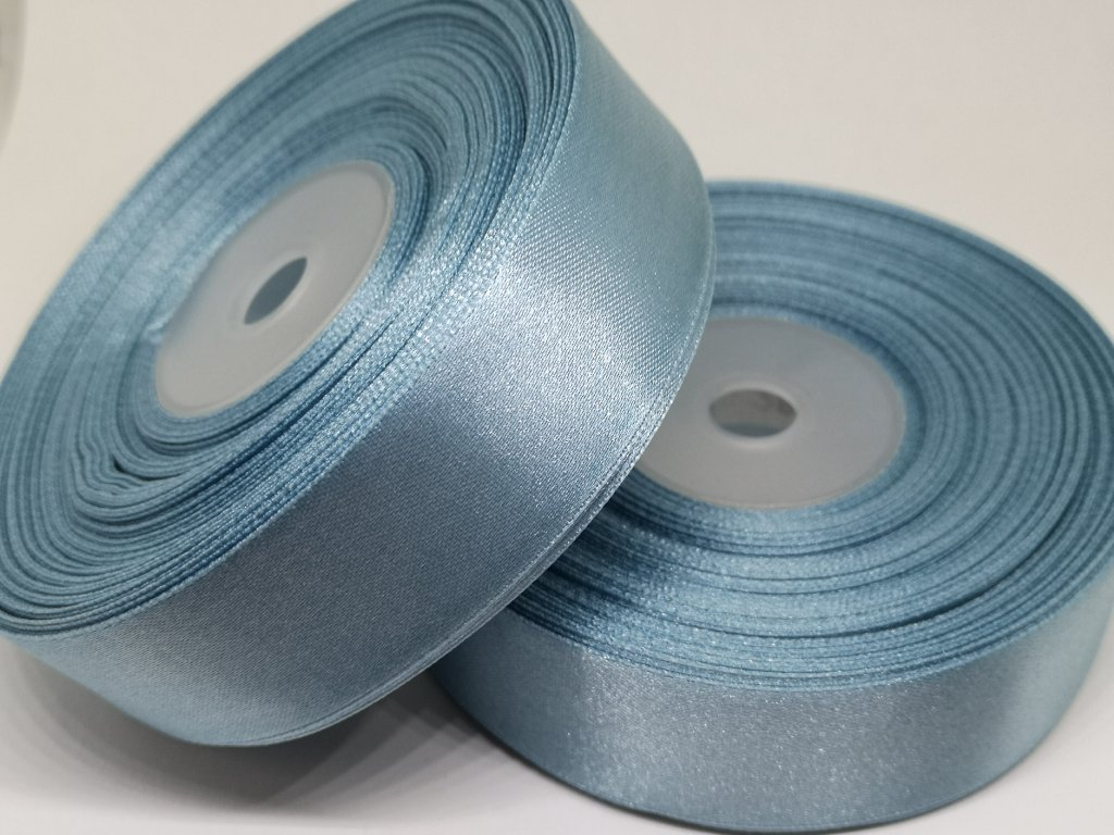Saténová stuha 6mm A090 antická modrá
