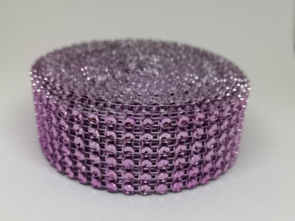 Diamantový pás 30mm ružový