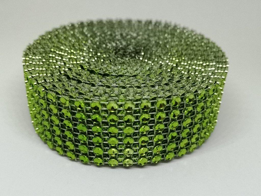 Diamantový pás 30mm zelený