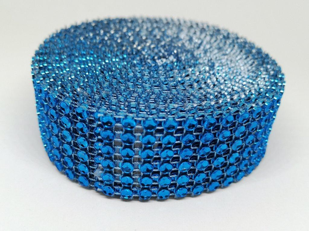 Diamantový pás 30mm modrý kobaltový