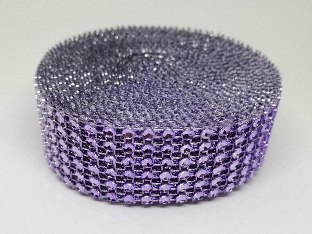 Diamantový pás 30mm fialový