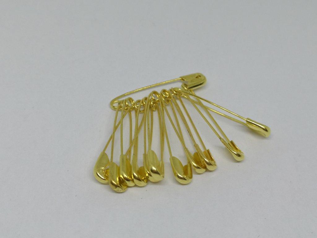 Zatváracie špendlíky zlaté 25mm