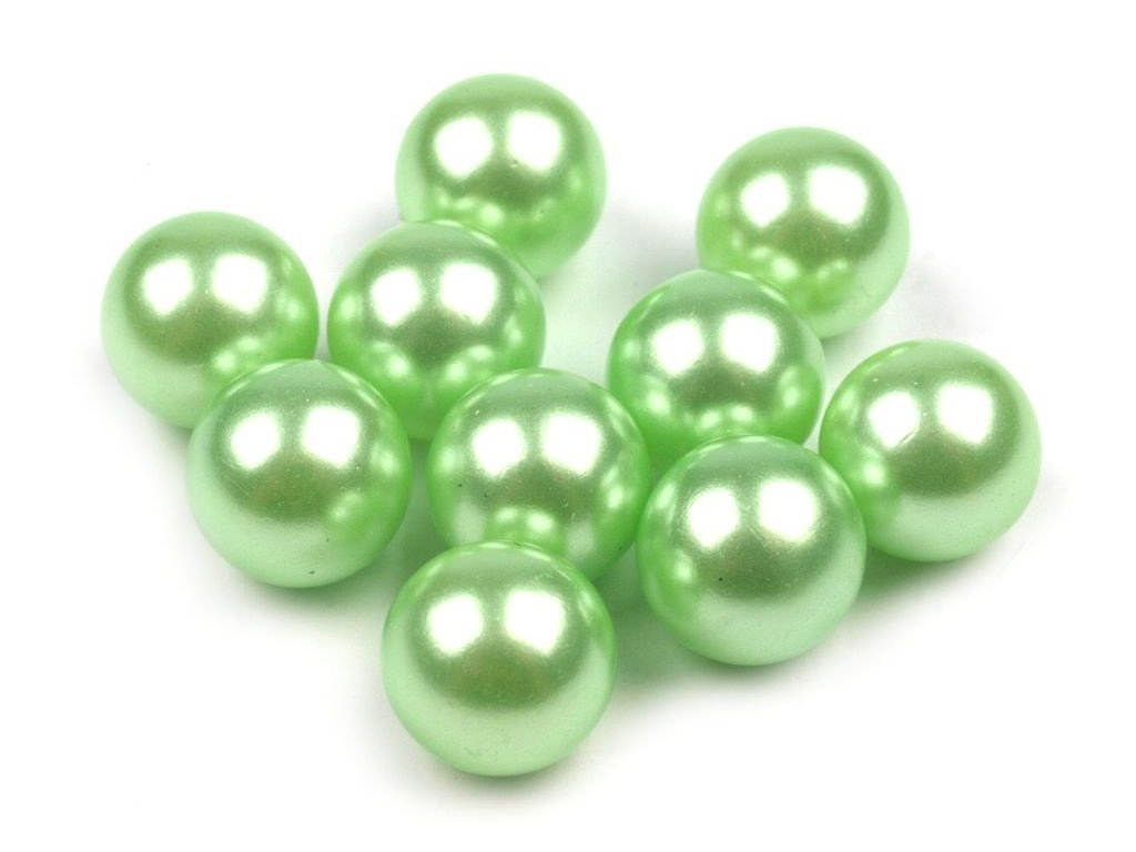 Dekoračné guľky bez dierok Ø10 mm/10ks zelené
