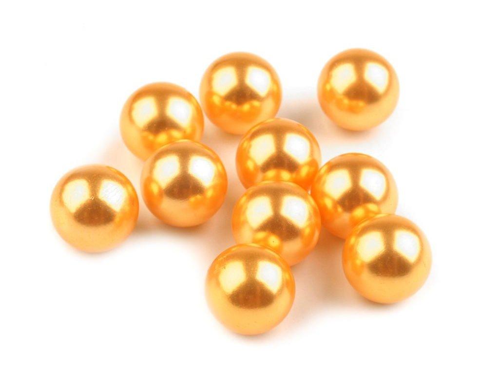Dekoračné guľky bez dierok Ø10 mm/10ks horčicové