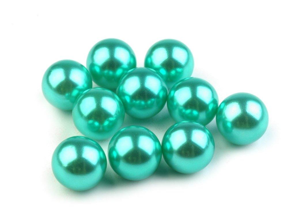 Dekoračné guľky bez dierok Ø10 mm/10ks zelenomodré