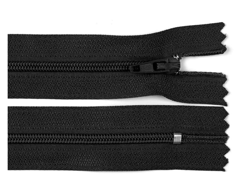 Zips špirálový 18cm čierny