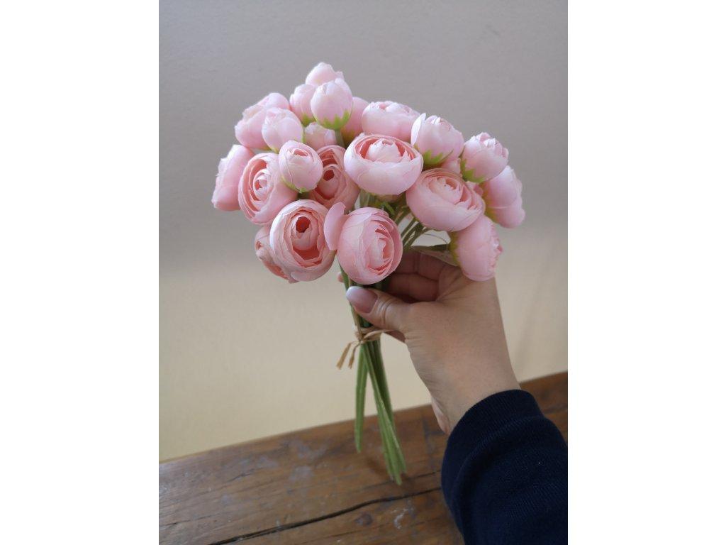 Kytička ranunkulus svetlo ružová