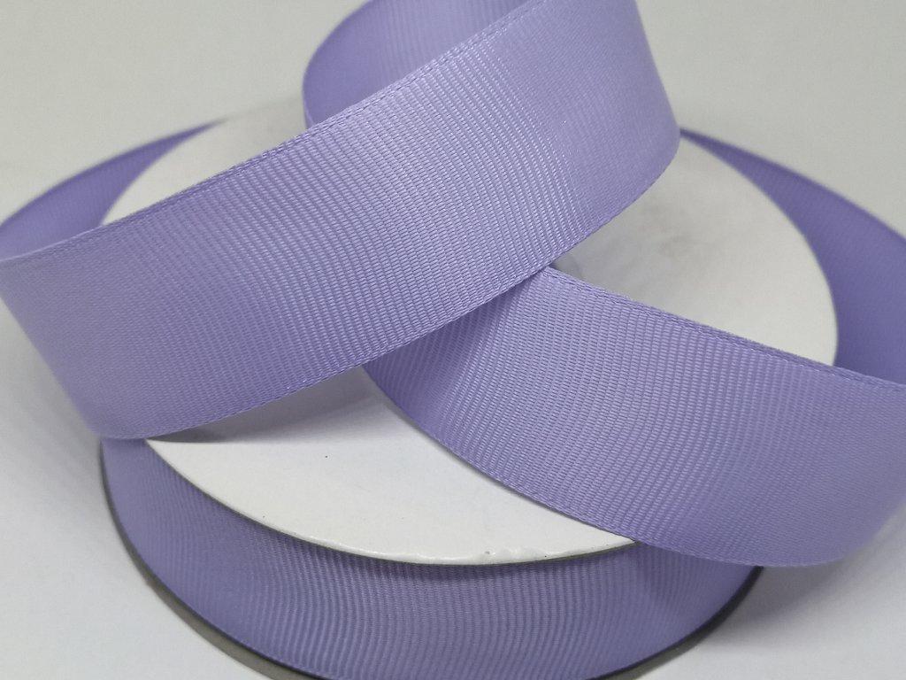 Rypsová stuha 25mm svetlá fialová 075