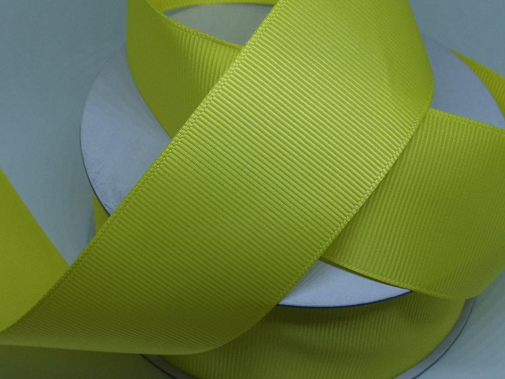 Rypsová stuha 38mm žltá C101