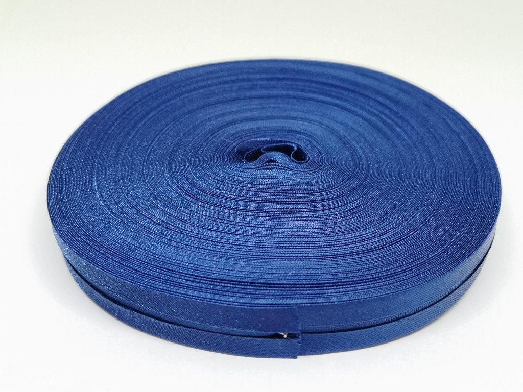 Šikmý prúžok saténový 14mm kráľovsky modrý