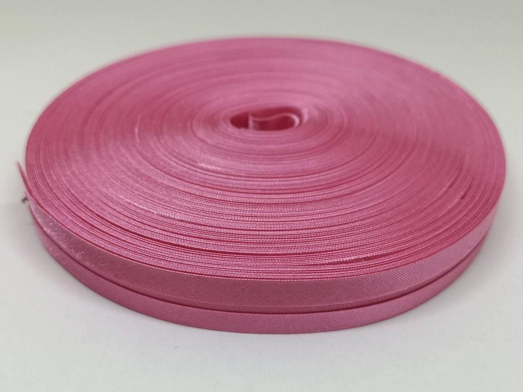 Šikmý prúžok saténový 14mm tmavo ružový