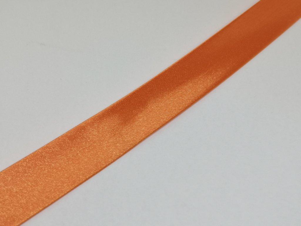 Šikmý prúžok saténový 18mm pomarančový