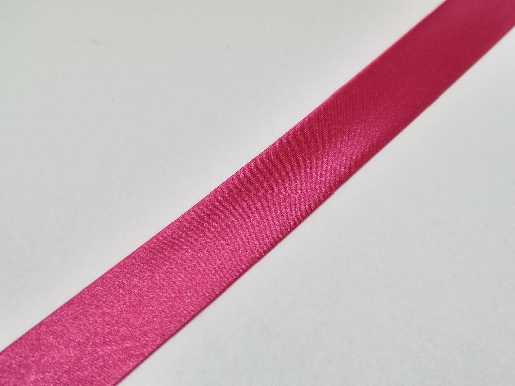 Šikmý prúžok saténový 18mm tmavo ružový