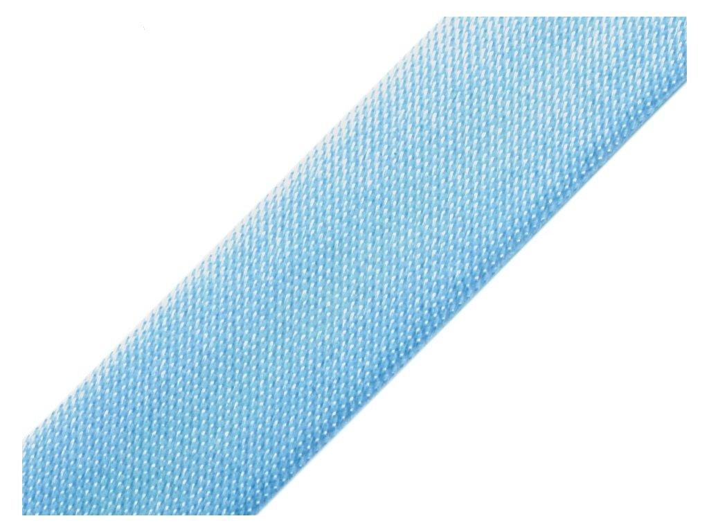 Šikmý prúžok saténový 18mm svetlo modrý