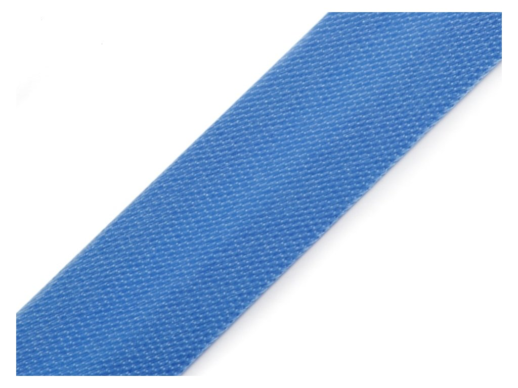 Šikmý prúžok saténový 18mm žiarivo modrý