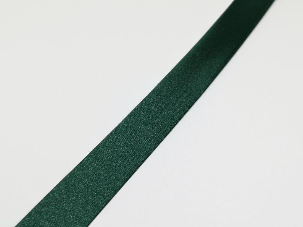 Šikmý prúžok saténový 18mm tmavo zelený