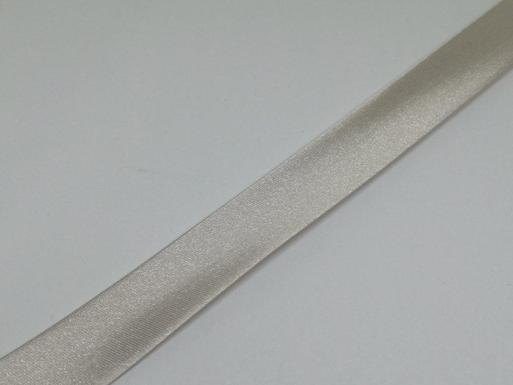 Šikmý prúžok saténový 18mm šedobéžový