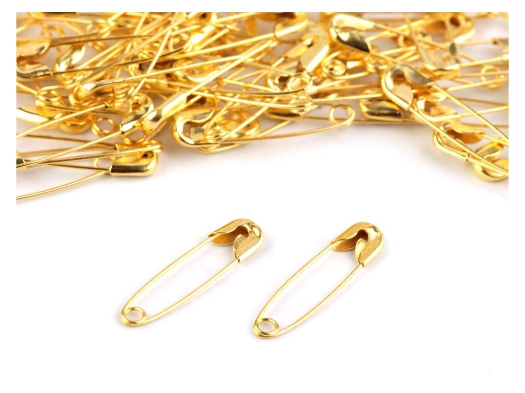 Zatváracie špendlíky zlaté 38mm