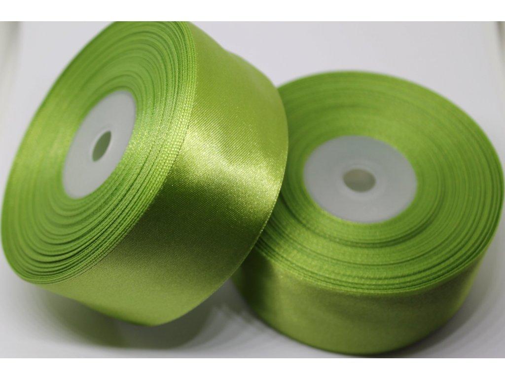 Saténová stuha 38mm A026 olivová zelená