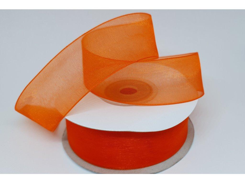 Monofilová stuha 25mm pomarančová