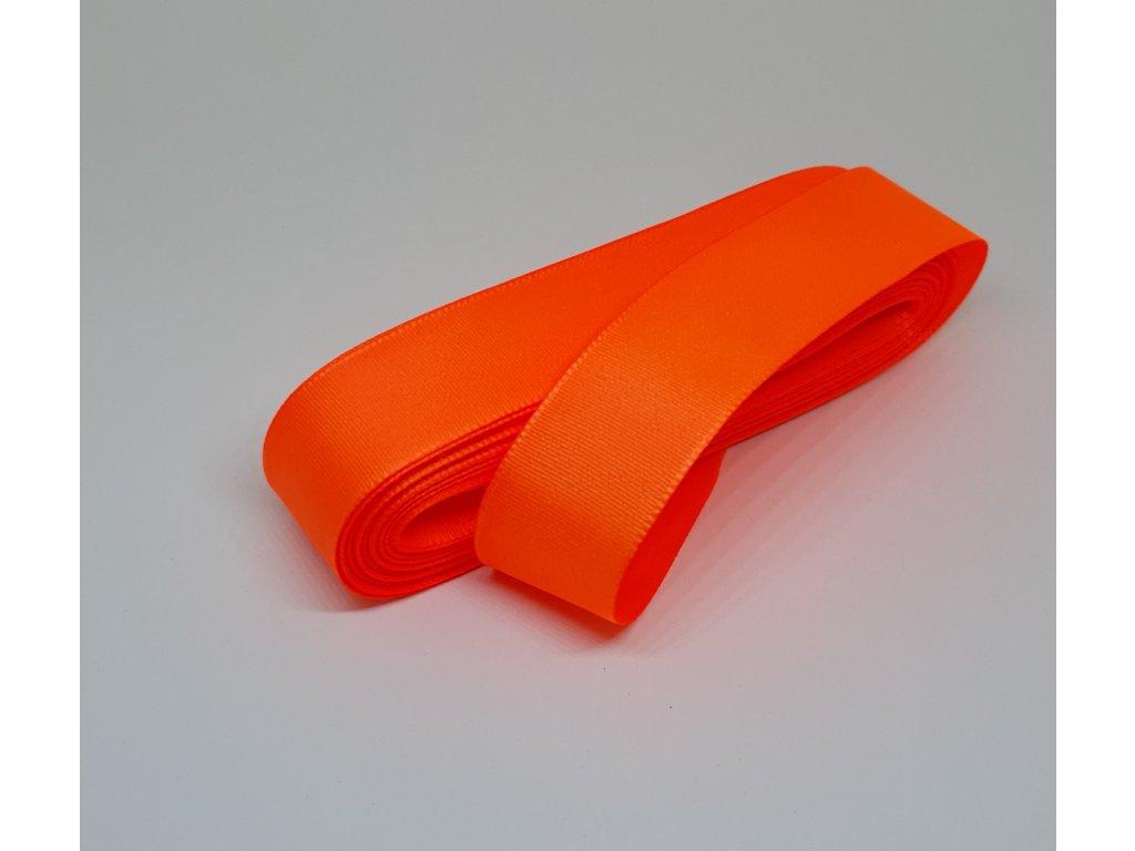 Taftová stuha 25mm/10m reflexná lososová 252
