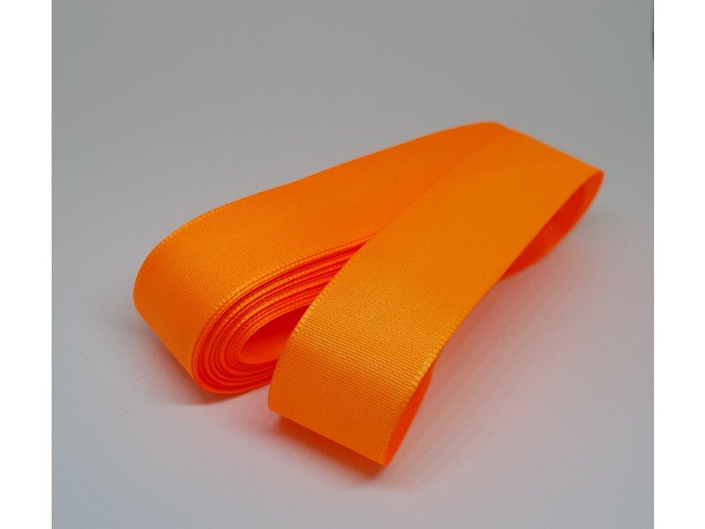 Taftová stuha 25mm/10m reflexná oranžová 251