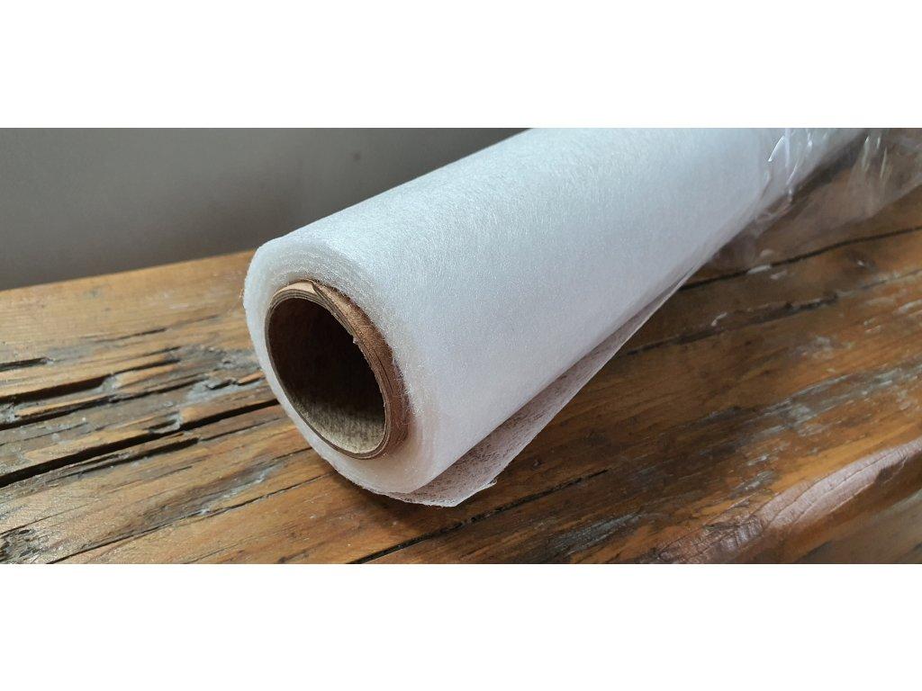 Dekoračný vlizelín 50cm/9y biely 001