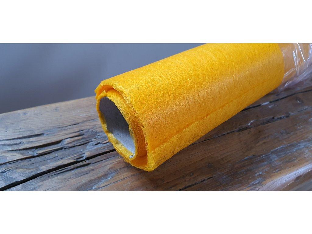 Dekoračný vlizelín 50cm/9y svetlý oranžový 023