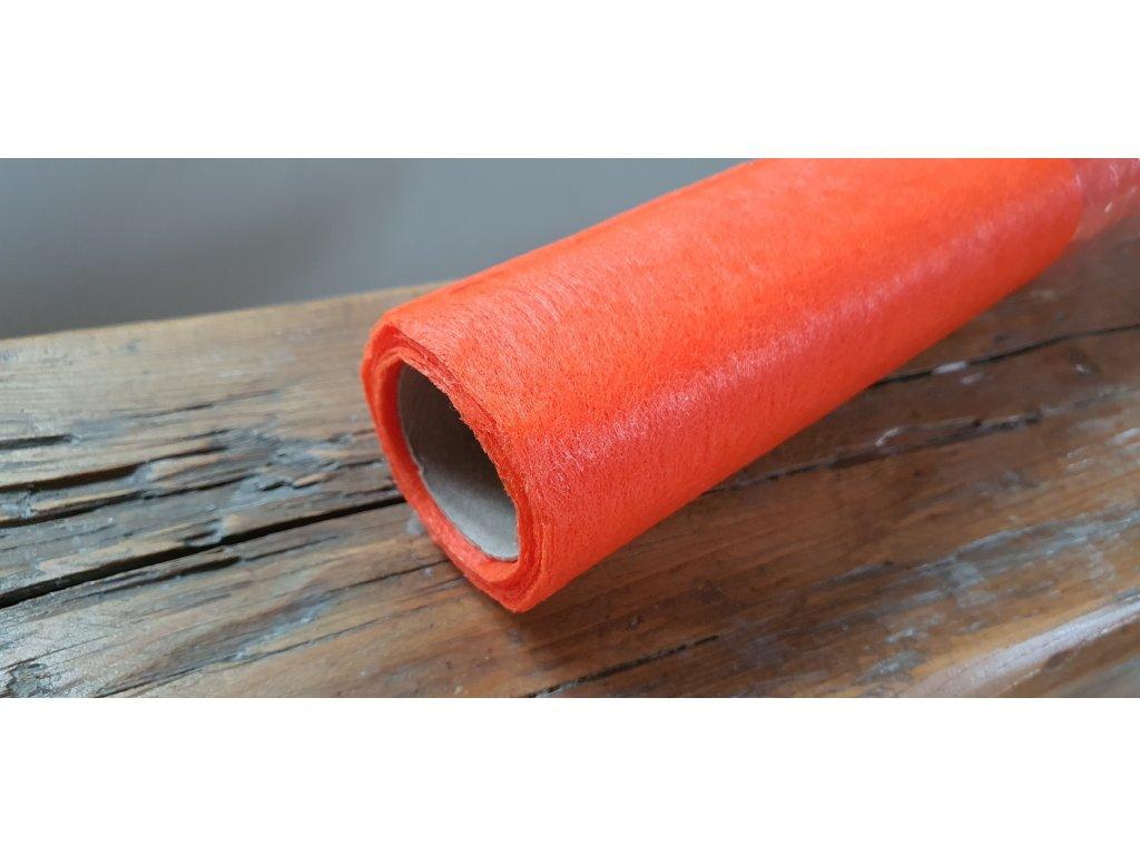 Dekoračný vlizelín 50cm/9y pomarančový 020