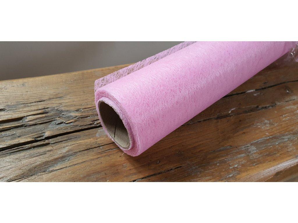 Dekoračný vlizelín 50cm/9y ružový 040