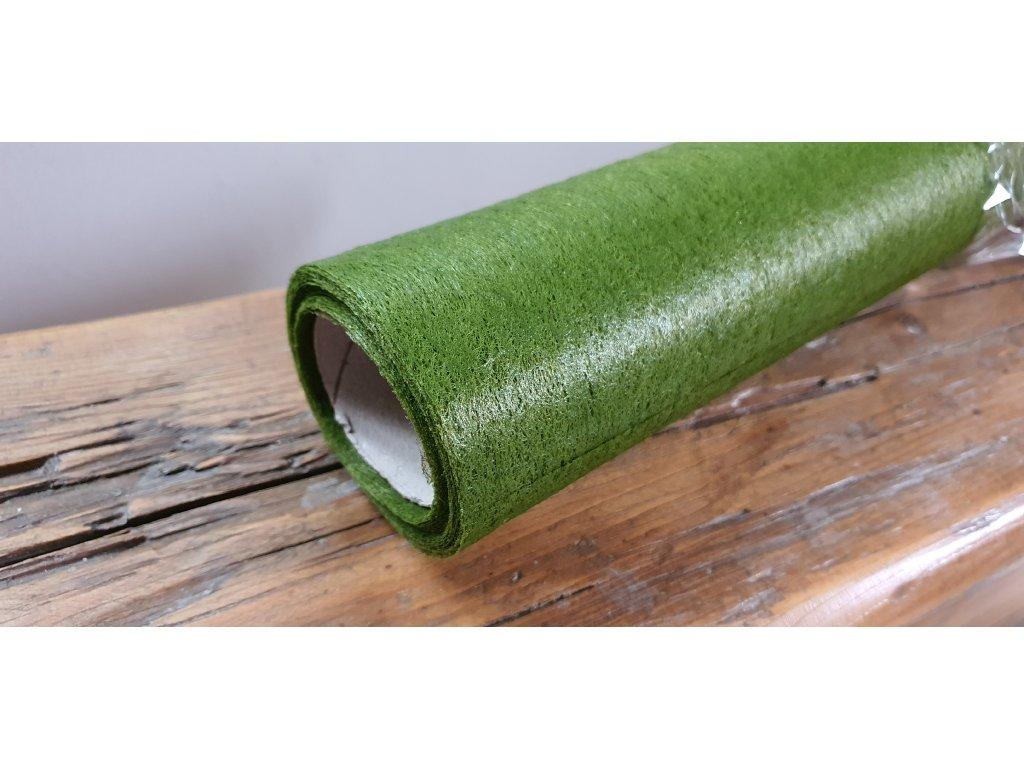 Dekoračný vlizelín 50cm/9y olivovo zelený 085C