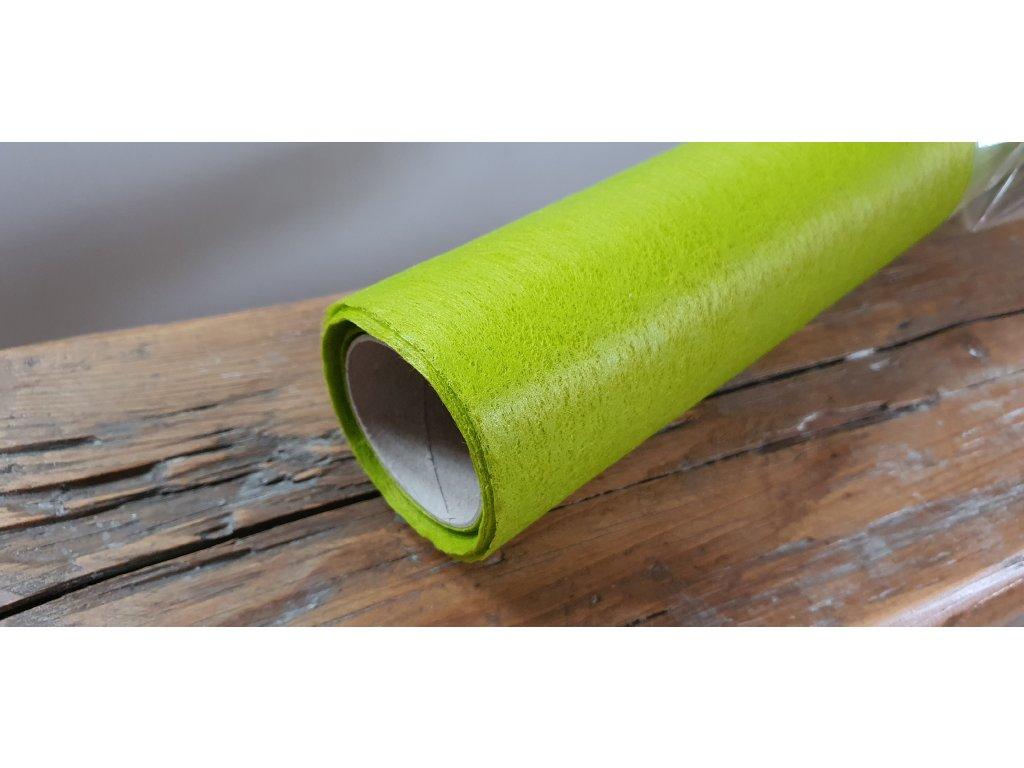 Dekoračný vlizelín 50cm/9y jasný olivový 085J