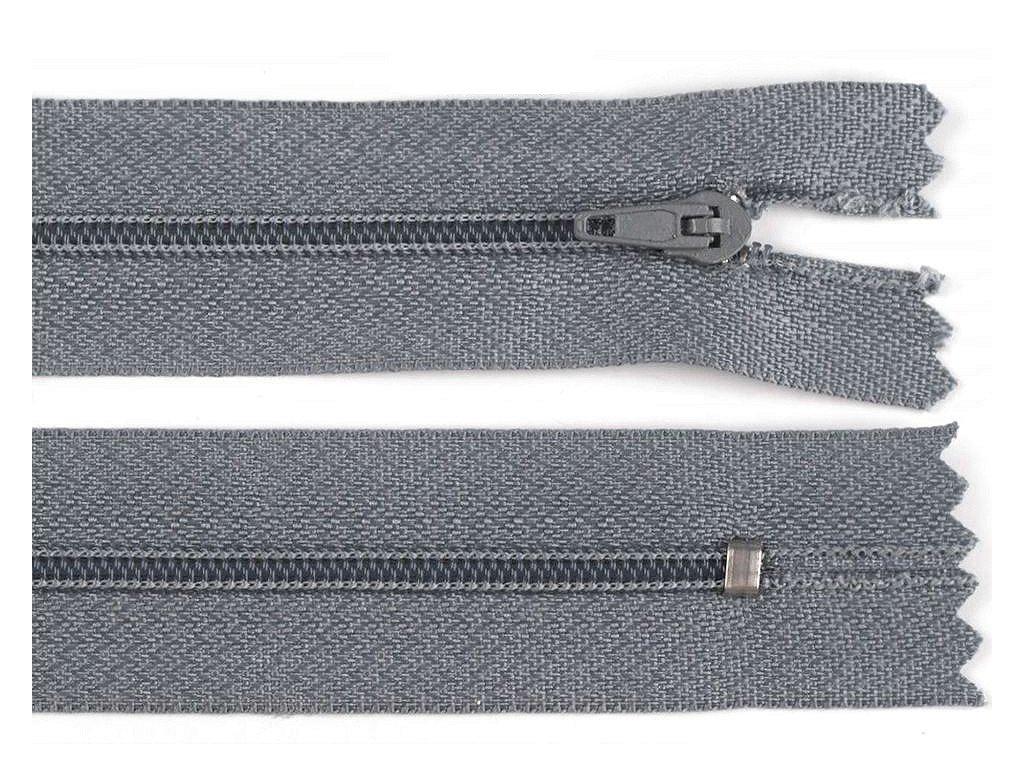 Zips špirálový 3mm/40cm šedý pinlock
