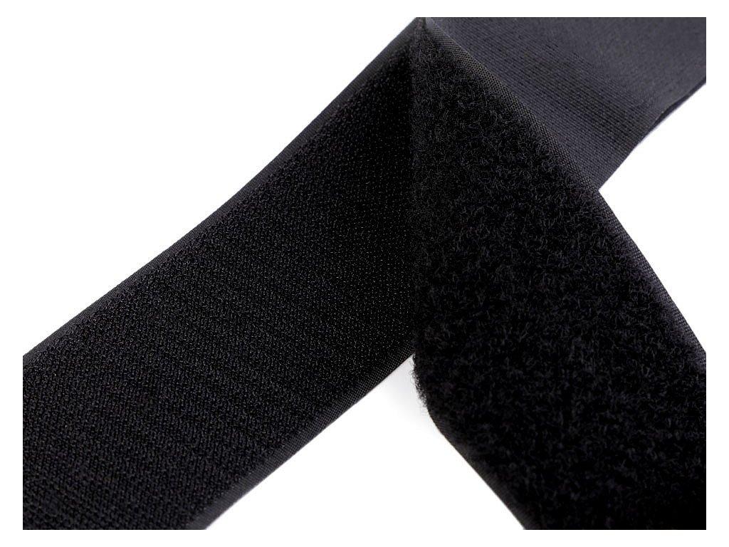 Suchý zips háčik + plyš 50mm čierny