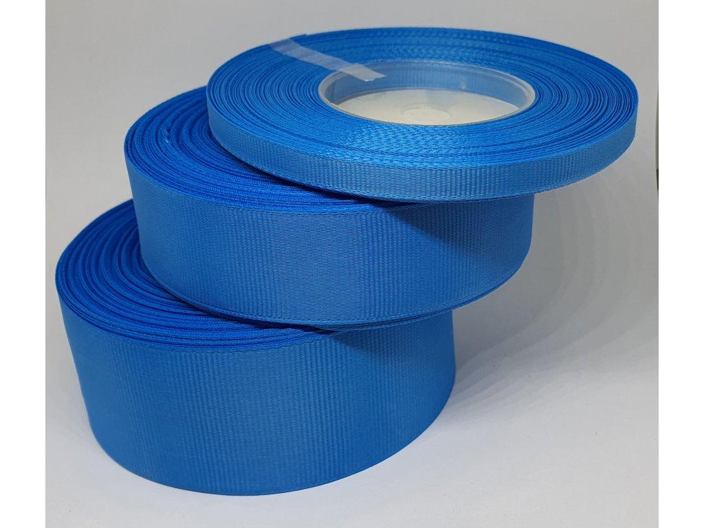 Rypsová stuha 38mm modrá 090