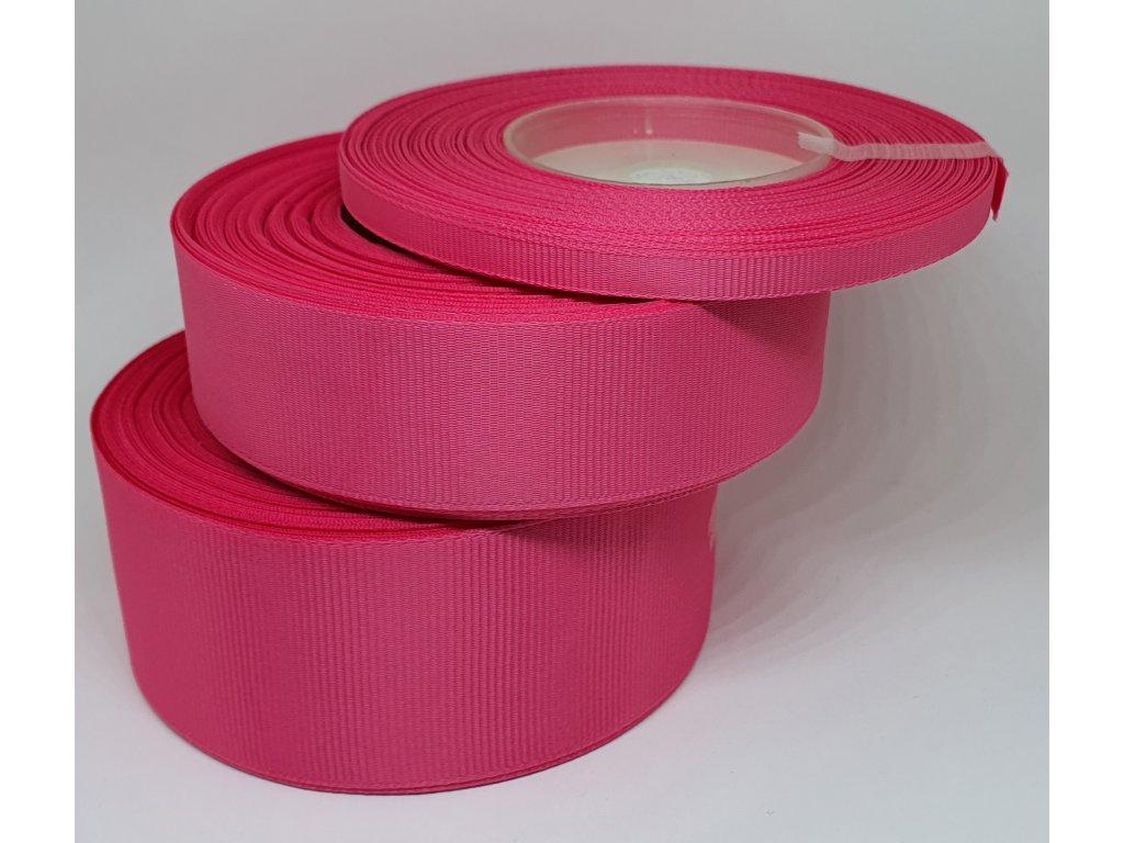 Rypsová stuha 25mm cyklaménová 044