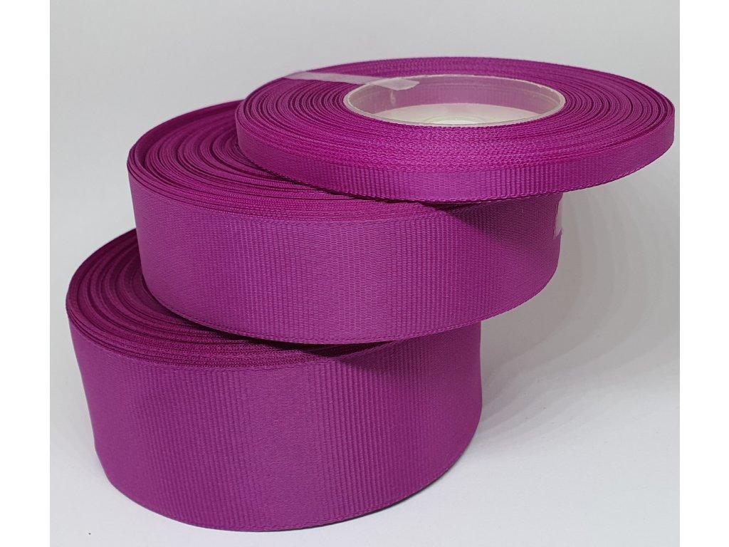 Rypsová stuha 6mm purpurová 073