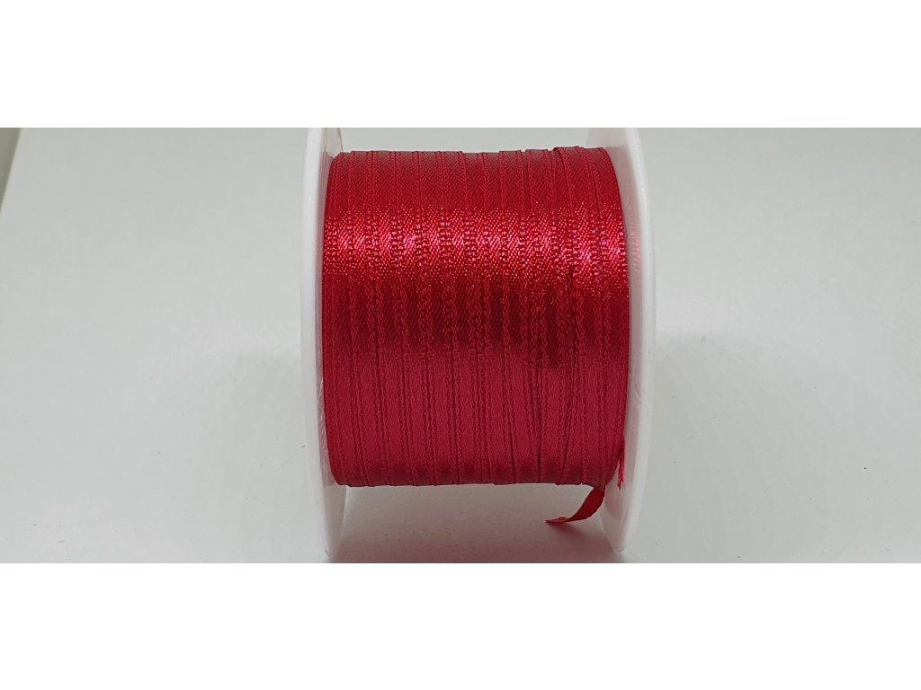 Saténová stuha 3,5mm A020 tmavá červená