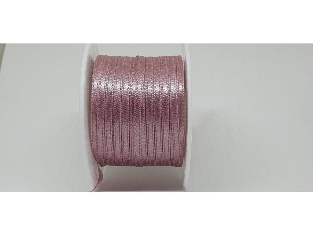 Saténová stuha 3,5mm A083 staroružová lila