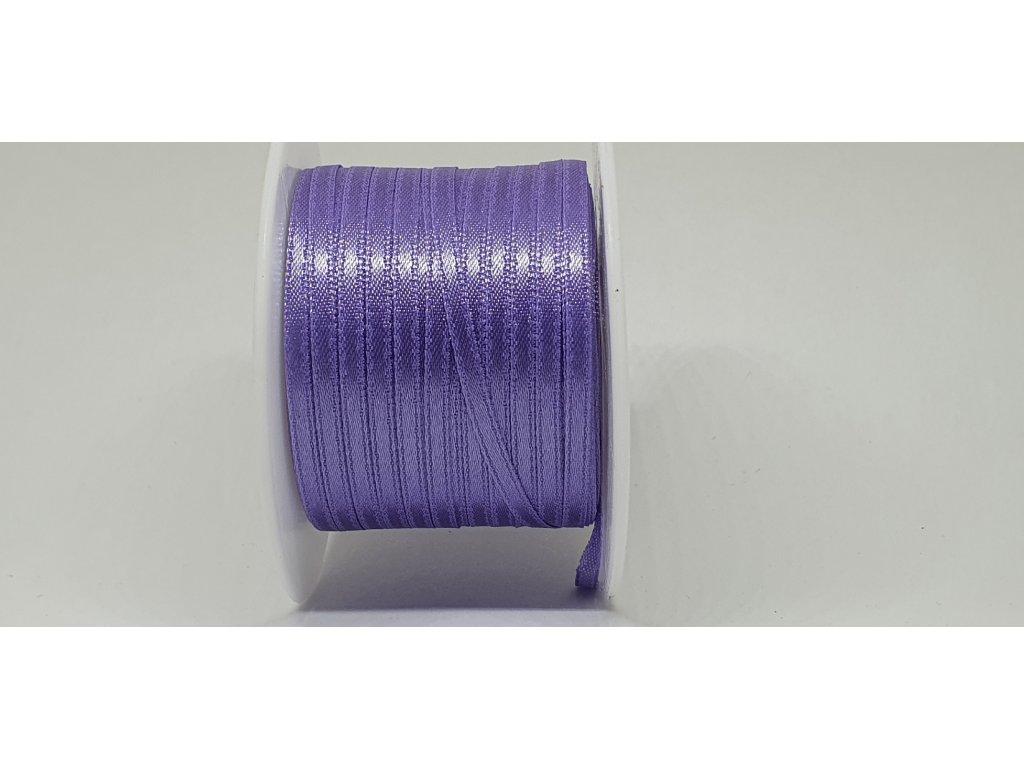 Saténová stuha 3,5mm A045 hyacintová