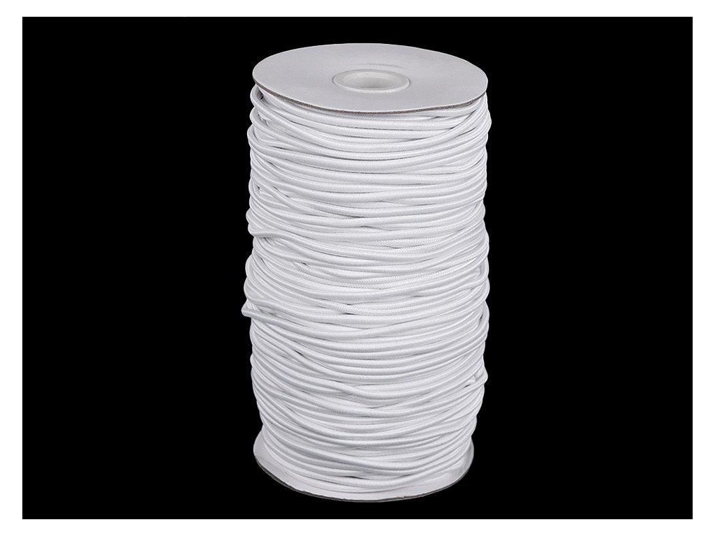 Klobúková guma guľatá Ø3mm biela