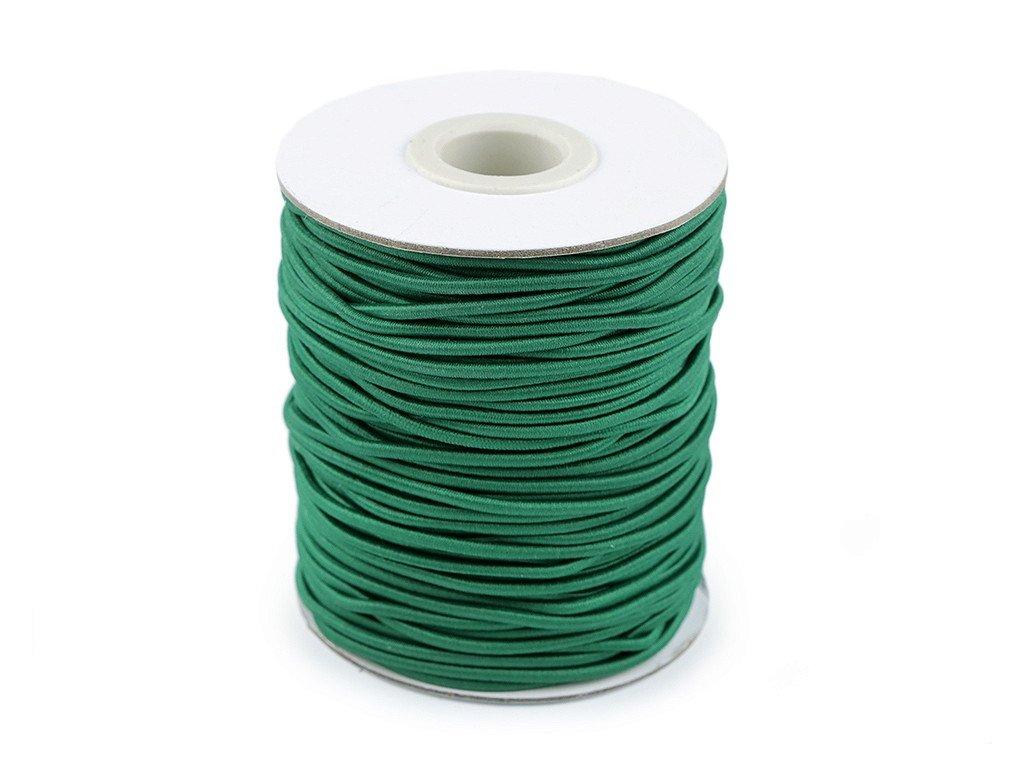 Klobúková guma guľatá Ø2mm zelená