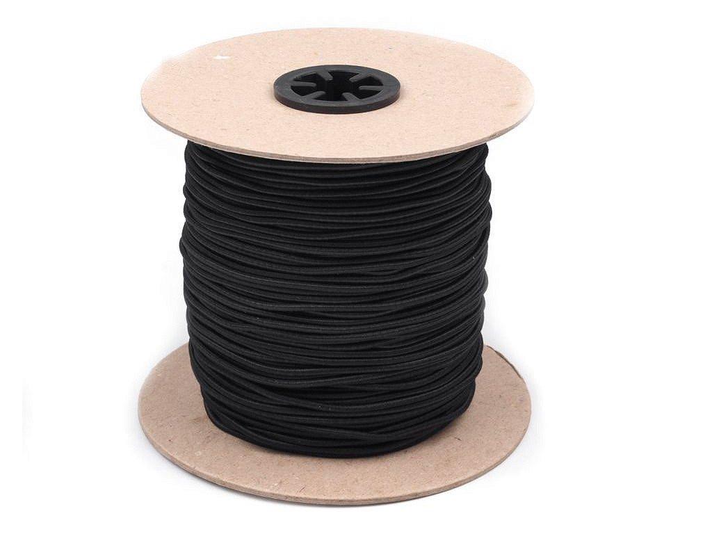 Klobúková guma guľatá Ø2mm čierna