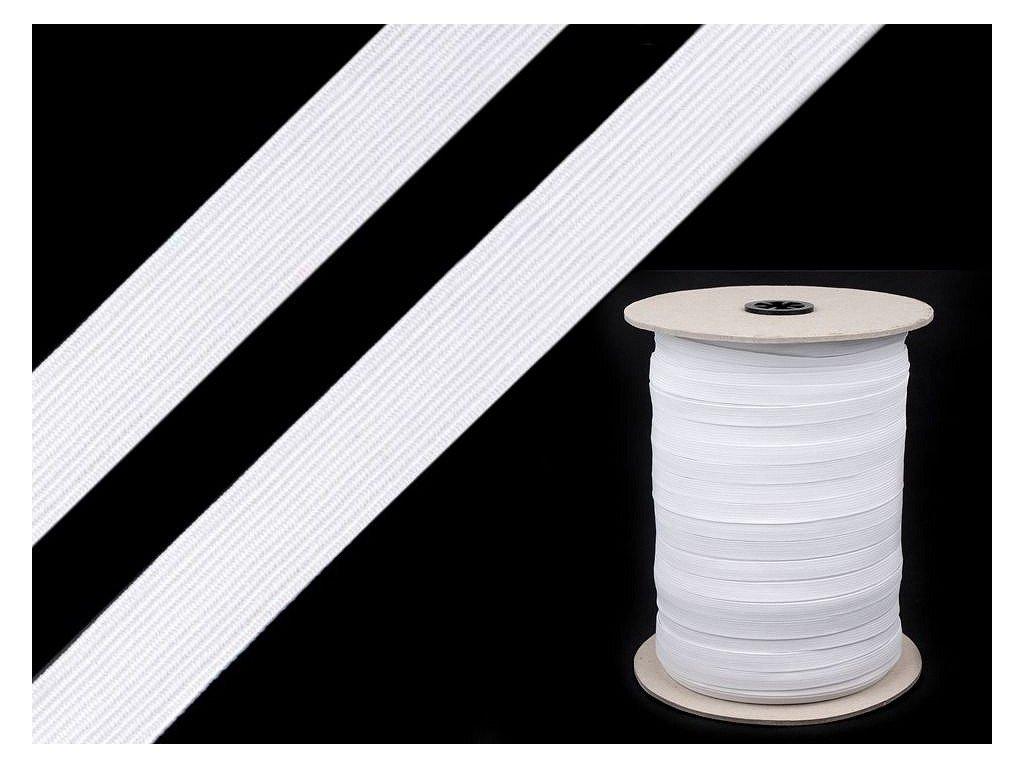 Guma prádlová 9mm biela